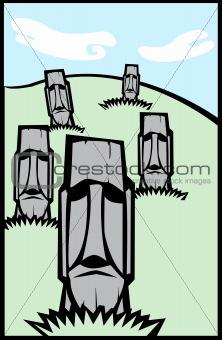 Group of Moai #2