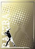 baseball golden poster background 3