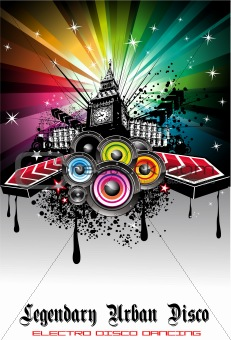 Abstract Urban Disco Event Background