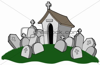 Cemetery with tomb