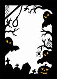 Halloween silhouette frame