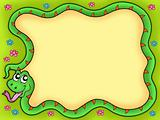 Snake frame with flowers 1
