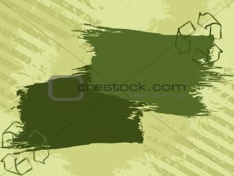Grunge eco banner