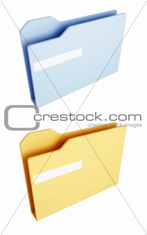 Blue and yellow folder