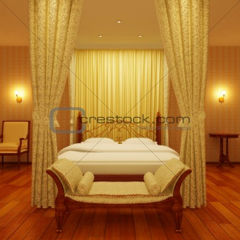 Classical sleeping room