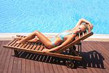 woman enjoying a swimming pool