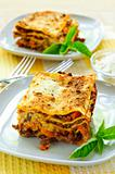Plates of lasagna