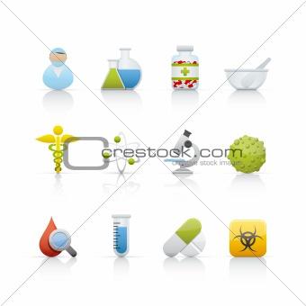 Icon Set - Medical and Pharmacy