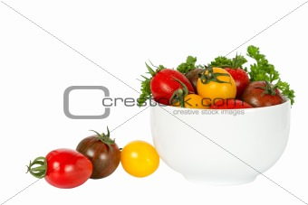 small tomatoes in bowl