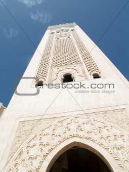 Tower of mosque in Casablanca