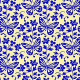 Vector butterflies seamless pattern