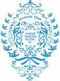 fancy floral emblem