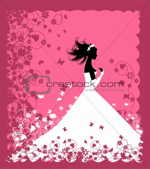 Bride. Wedding illustration for your design