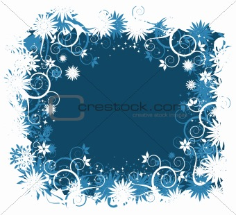 Abstract floral frame for your design