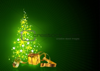 Green Christmas Greetings Card