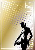 volleyball golden poster background 6