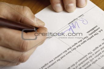SIGNING OF CONTRACT