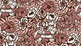 seamless complicated flower pattern