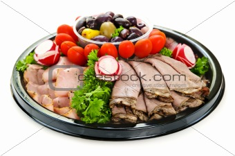 Cold cut platter