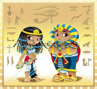 Pharaoh and Cleopatra with Background