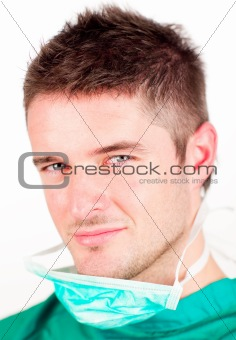 Portrait of an attractive surgeon looking at the camera