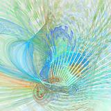 Abstract elegance background. Blue - green palette.