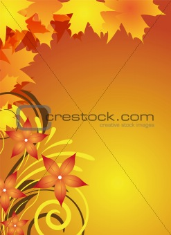 autumn flyer design