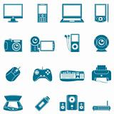 Computer and media icons