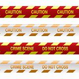 crime scene tape red