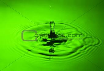 water splash in green
