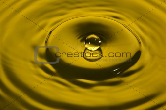 water splash in yellow