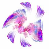 Abstract elegance background. Purple - blue palette.