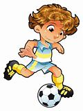 Baby Soccer Player