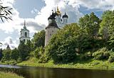 Old Pskov kremlin view