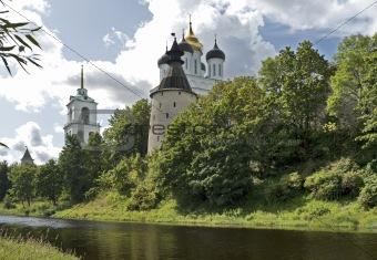 Old Pskov kremlin view