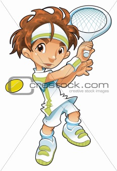 Baby Tennis Player