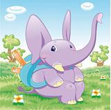 Baby Elephant - school