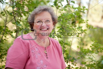 An Atractive Happy Senior Woman Outdoor Portrait.