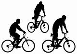 Silhouettes bike