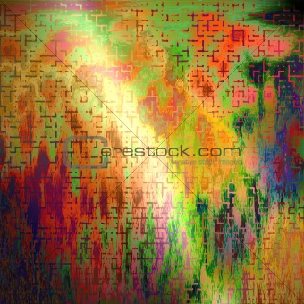 abstract background that looks similar to the painter Pablo Pica