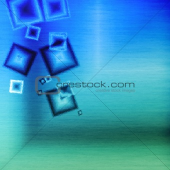 abstract blue square background ripple