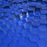 Blue Translucent Hexagons