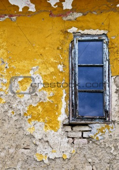 Grunge background wall and window