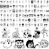 Halloween set of black sketch. Part 6.