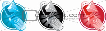 vector phone with sms