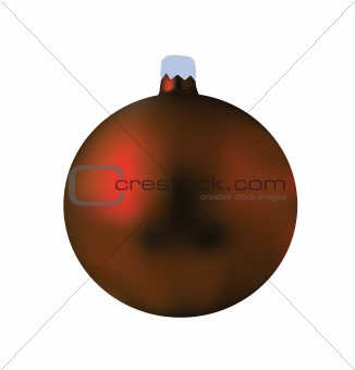 A single isolated red Christmas ball