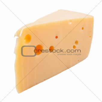 A cheese isolated .