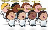 Angelic Kids Choir- vector illustrations