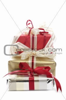 Three christmas packages