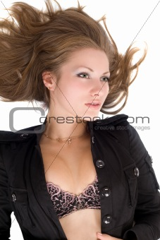 Portrait of the young beautiful woman. Isolated